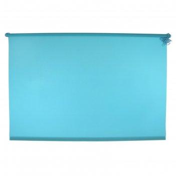 Штора-ролет 140x160 см комфортиссимо, цвет голубой