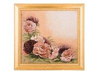 Гобеленовая картина розовые пионы 48х55см.