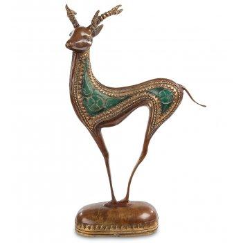 43-113 фигурка олень (бронза, о.бали)