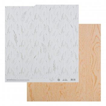 Бумага для скрапбукинга «колос», 30.5 x 32 см, 190 г/м