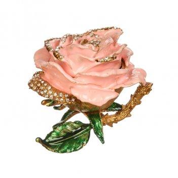Шкатулка роза s-626m розовый
