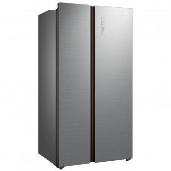 Холодильник midea mrs518wfngx, side-by-side, класс a++, 661 л, серебристый