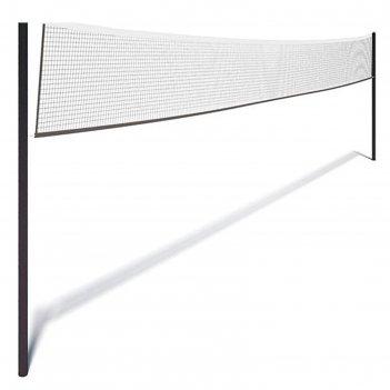 Сетка волейбольная с тросом, чёрная, нить 2 мм, 9,5 х 1 м
