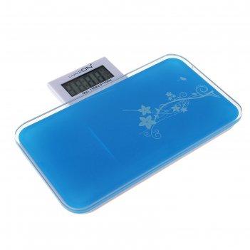 Весы электронные напольные luazon lvp-1803, до 150 кг синие