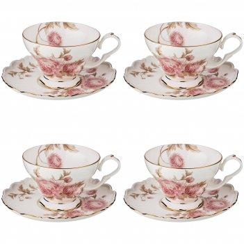Набор чайных пар на 4 персоны , 8 пр. астра, 300 мл.