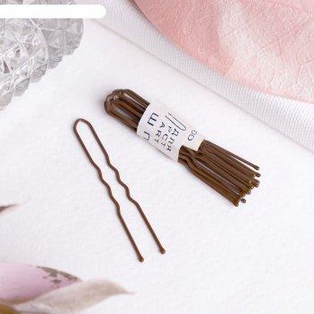 Шпильки для волос бронзовый цвет (набор 10 шт.)