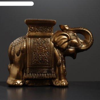 Фигура - подставка слон бронза 21х54х43см