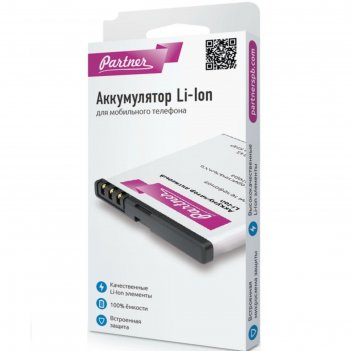 Аккумулятор partner samsung ab474350bec, d780, li-i 1200 mah