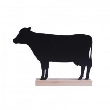 Табличка для надписей меловым маркером корова, 299х207, цвет чёрный
