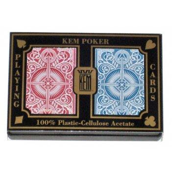 Карты кем в пластиковой коробке - стрела пластиковые (красн/син, черн/зол)