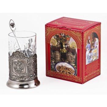 Набор для чая герб (3 пр.) арт. пд-89к