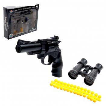 Пистолет «атака», металлический, стреляет силиконовыми пульками, микс