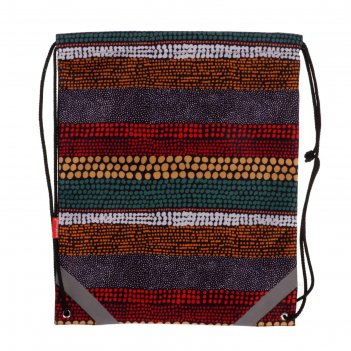 Мешок для обуви, 440 х 365 мм, erich krause, mosaic strips, со светоотража