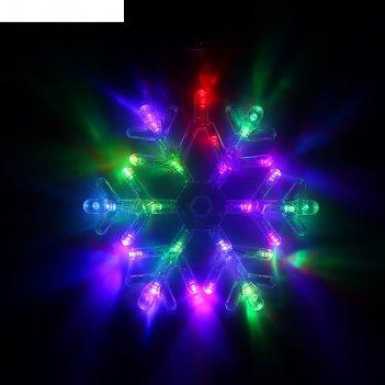 Фигура снежинка d=25 см, пластик, 30 led, 220v, контрол. 8р. мульти