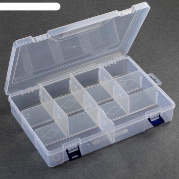 Контейнер для рукоделия прям-к 10 отделений 31*20,5*6см прозрачный