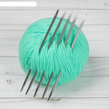 Спицы для вязания, чулочные, d = 4 мм, 15 см, 5 шт