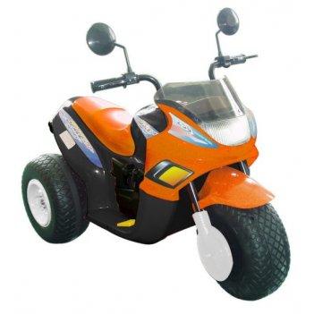 Мотоцикл эл.оранж 103 см., трехкол, спейс, 2*6 в