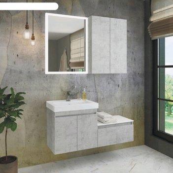 Шкаф подвесной comforty «осло-60», бетон светлый