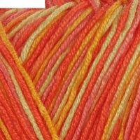 Пряжа adelia mia print 100% микрофибра 307м/100гр (05 роз-оранж-желт)