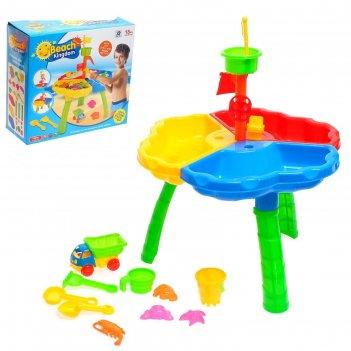 Столик для игры с песком и водой пляжный замок