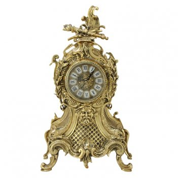 Часы  карранка  каминные бронзовые  золото