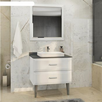 Зеркало comforty «империя-80» белый