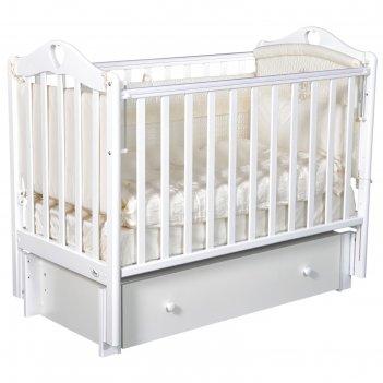 Детская кровать oliver bambina premium, универсальный маятник, ящик, цвет