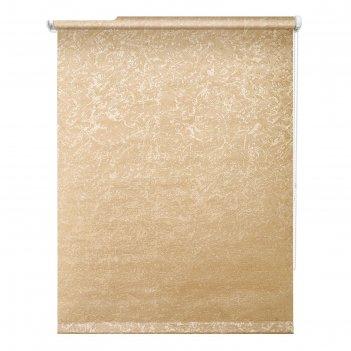 Рулонная штора «фрост», 60х175 см, цвет коричневый