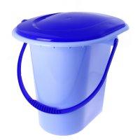 Ведро-туалет, 18 л, цвет голубой