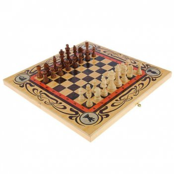 Набор  большой 3 в 1 статус  (шахматы, нарды, шашки)