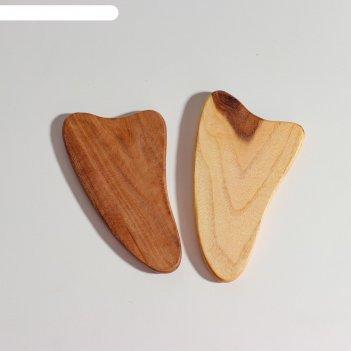 Пластина -скребок для массажа гуаша, карагач