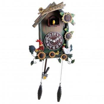 Часы настенные с кукушкой птичий двор