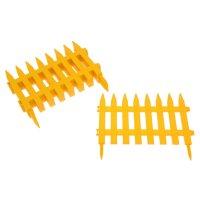 Забор декоративный, 300х28 см, пластик, цвет жёлтый «частокол»