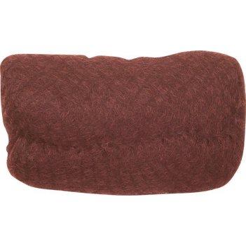 Валик ho-pc red brown  для прически, искусственный волос + сетка,  рыжий