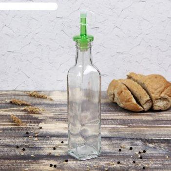 Бутыль для масла, уксуса «классик» 270 мл, 5x5x25 см, крышка микс