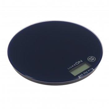Весы электронные кухонные luazon lvk-701 до 5 кг, круглые, стекло, темно-с