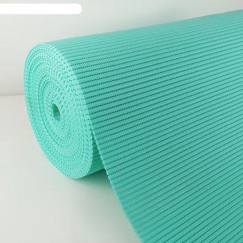 Коврик напольный пвх 0.65x15 м, цвет бирюзовый