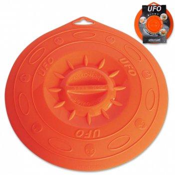 Крышка, dia 25,5 см, силиконовая, цвет оранжевый, серия ufo,