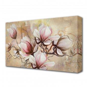 Картина на холсте необычные цветы