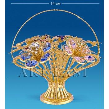Ar-1153 композиция цветы с цв.кр (юнион)