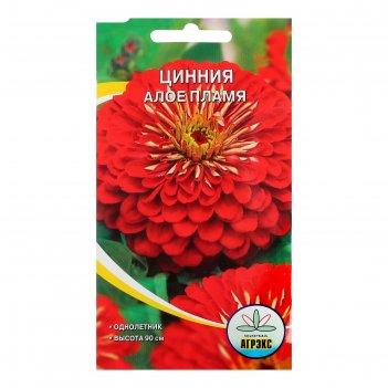 Семена цветов цинния алое пламя, 0,3 г