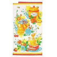 Полотенце вафельное сладкий мед 34*64 см,100% хлопок 160 гр/м