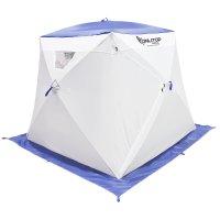 Палатка призма 200 (1-сл) с 1 входом, люкс в95т1, цвет бело-синий