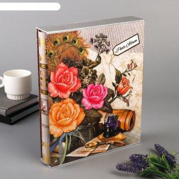 Фотоальбом на 400 фото 10х15 см мемуары в коробке, микс
