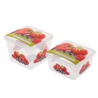 Набор пищевых контейнеров с крышками браво. ягоды, 2 шт: 0,45 л; 0,75 л