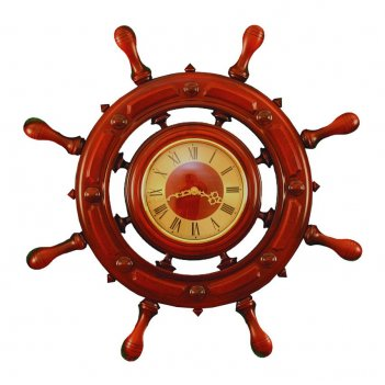 Шчст-с12/1 штурвал сувенирный, часы (8 ручек)