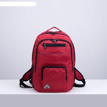Рюкзак туристический, 28 л, 2 отдела на молниях, 2 наружных кармана, 2 бок