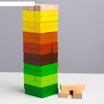 Логический игровой набор  башня лес ( 54 дет.)