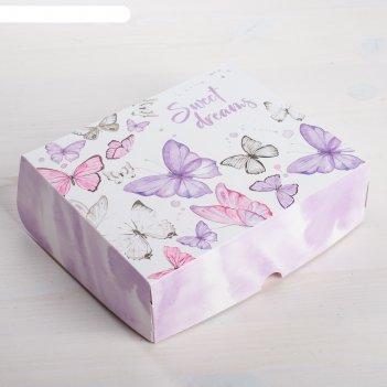 Коробочка для кондитерских изделий sweet dreams  17 x 20 x 6 см