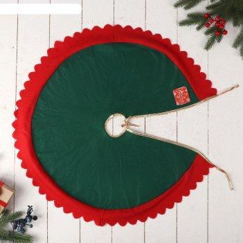 Полянка под елку 60 см кружевная зеленая